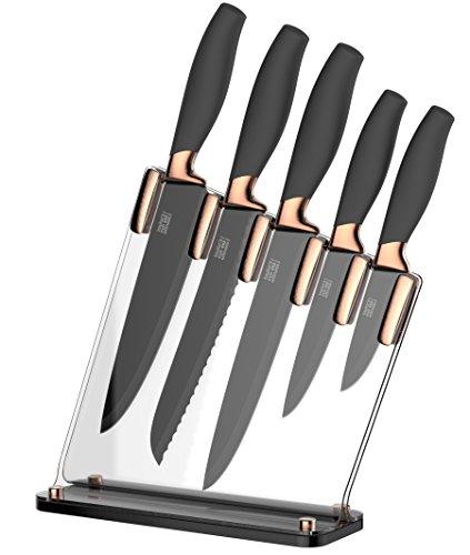 Taylors Eye Witness, Ombre, blocco coltelli con 5 coltelli multicolore pastello Copper