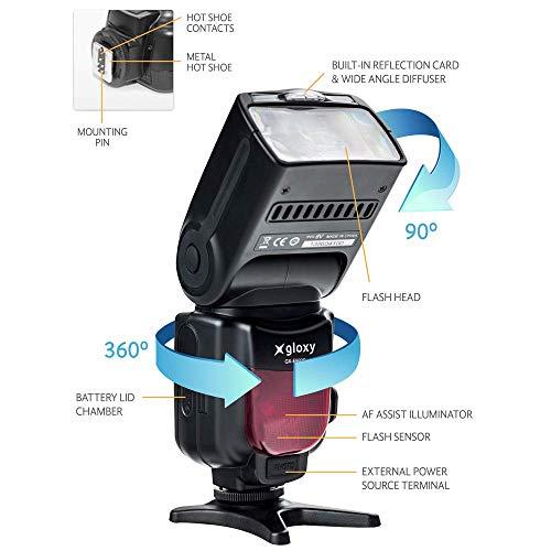 Flash TTL HSS Gloxy GX-F990 para Canon EOS 1300D, 1200D, 550D ...