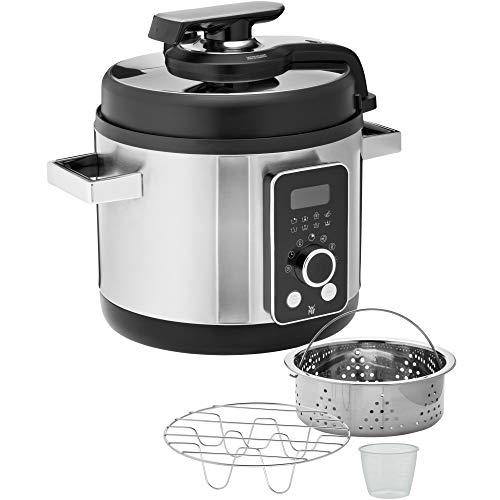 WMF Lono - Cocina eléctrica 8 en 1, 6 litros, olla a presión, arroz, vapor, 1100 W, olla de cocción lenta, acero inoxidable mate