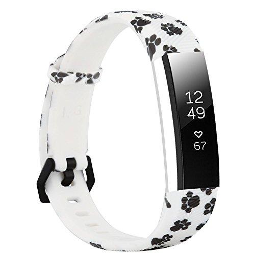 Fit-power Ersatz-Armband für Fitbit-Alta-Armbänder und Alta-HR-Armbänder. Verstellbares Ersatzsportarmband für Fitnessarmbänder für die Fitbit-Alta- und Alta-HR-Smart-Uhr, Pattern-K, Small:5.5-6.7inch