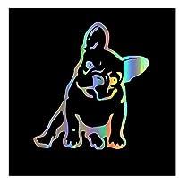 MDGCYDR 車 ステッカー 車のステッカー3D11.5 * 12.7Cmフレンチブルドッグ犬のファッションステッカー面白い動物のオートバイの車のステッカーのスタイリング