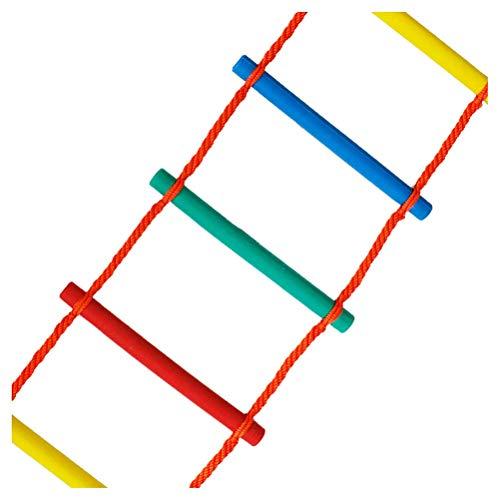 DROMEZ Escalera de Cuerda de Escape de Emergencia, Escalera de Cuerda para Escalar sobre el Arco Iris para Exteriores, Juego de Juegos para Interiores y Exteriores para niños y niñas, Escalera de e