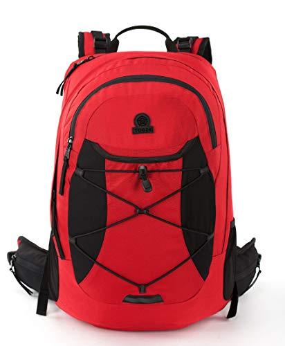 TOG 24 Snaith 35L Water Resistant Backpack, Hiking Daypack High Visibility Reflective Trim with Side Water Bottle Holder, Air Ventilated Back Frame Adjustable Padded Comfort Support Shoulder Straps