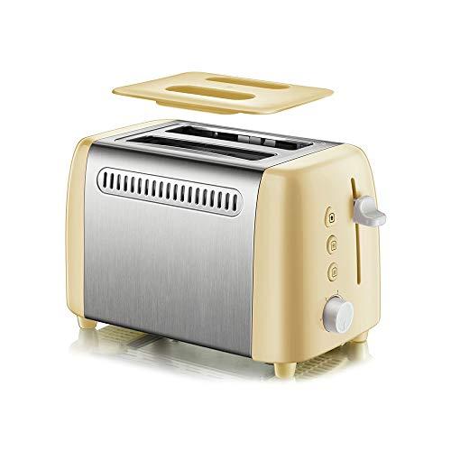 Mini tostadora de pan eléctrica portátil, máquina automática de tostadora de pan múltiple, ajuste de 6 marchas para el desayuno