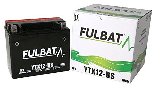 Fulbat Batería Agm Ytx12-Bs 12V 10Ah 180A Largo: 150 X Ancho: 87 X Alto 130 (Mm) ¦