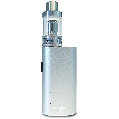 Dipse X40 Kit E Zigarette e Shisha - 40w Box Kit 2200mAh - 2ml 0,5 Ohm Atomizer mit 2,5mm dicken Glas (auslauf- und bruchsicher) - silber - eZigarette eShisha eDampfen (ohne Nikotin)