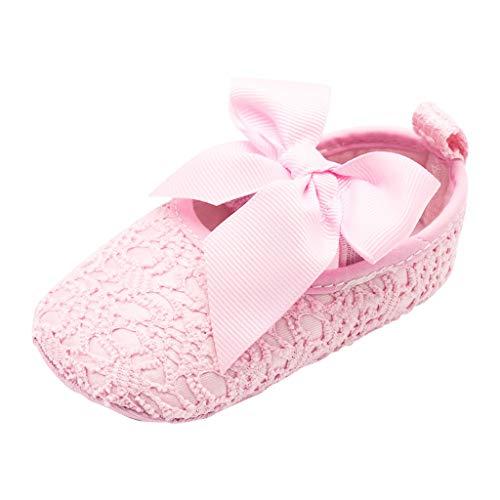 ABsoar-Baby Neugeborene Babyschuhe Niedlich Mädchen Krabbelschuhe Jungen Schuhe Krippeschuhe Festlich Taufschuhe (Rosa,9-12 Monate)