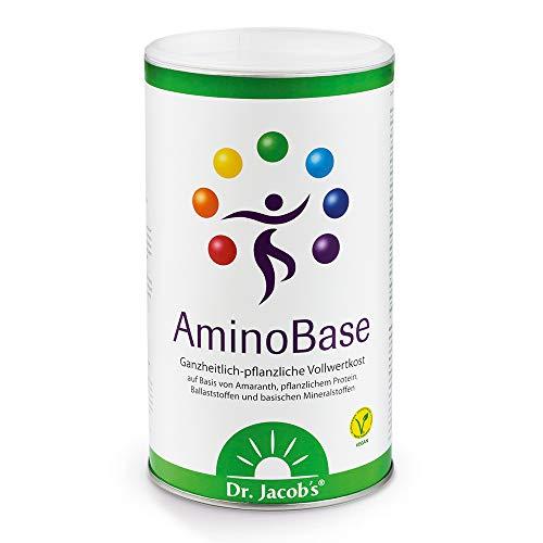 Dr. Jacob's AminoBase 345 g Dose für Basenfasten I vollwertiger basischer Mahlzeitersatz mit pflanzlichem Protein und organischen Mineralstoffen I mit Zink Magnesium Kalium Calcium Vitamin C