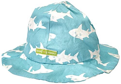 loud + proud Unisex Baby Outdoorhut, GOTS Zertifiziert Sonnenhut, Lagoon, 86/92