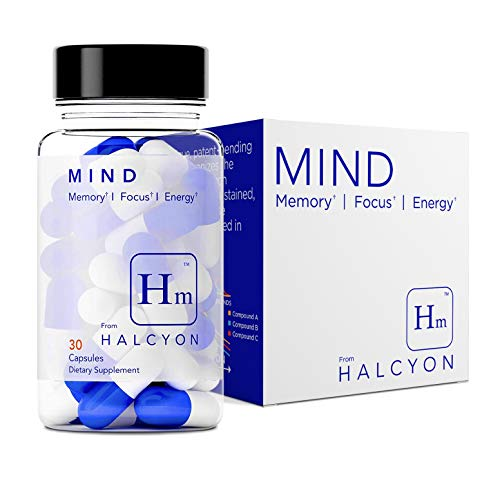 Halcyon Mind | Nootropic Brain & Immune System Booster Supplement to Enhance Immunity, Focus, Concentration & Improve Memory | Nootropics: Theacrine, Huperzine A, Alpha GPC, Rhodiola - Genius Clarity