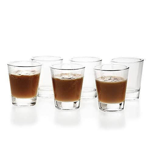 ショットグラス エスプレッソ1.5OZ/45ML目盛り付き 耐熱ガラス製 お酒グラス ワイングラス エスプレッソマシン 居酒屋 レストラン カフェ