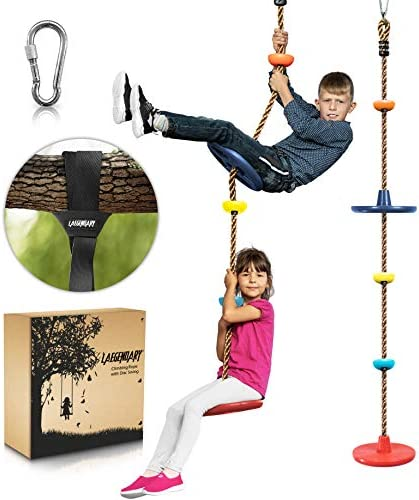 Climbing Rope Tree Swing with Platforms and 2 Disc Swings Seats Playground Swingset Accessories product image
