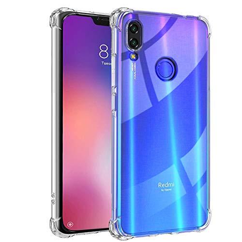 Funda para Xiaomi Redmi Note 7 - [Reforzar la versión con Cuatro Esquinas][Funda Protectora de la cámara] Ultra Fina Silicona TransparenteTPU Carcasa Protector Anti-Choque Anti-arañazos OUJD