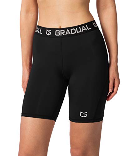 Women's Spandex Compression Volleyball Shorts 3' Workout Pro Shorts...