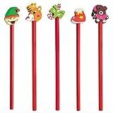 DISOK Lote de 100 Lápices Christmas Navidad (20 Packs x 5 Lápices)- Lápices Divertidos y Originales Regalos y Detalles de Navidad Infantiles para Niños