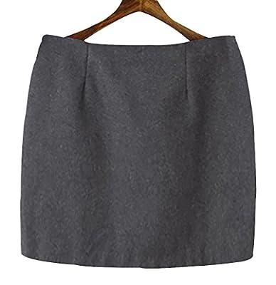 Basic Skirts Trendy XU Women Winter Woolen Short Skirts OL Hip Mini