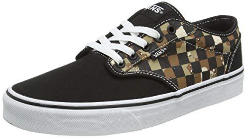 Vans Herren Atwood Canvas Sneaker, Mehrfarbig ((Camo Check) Black/White W4R), 50 EU