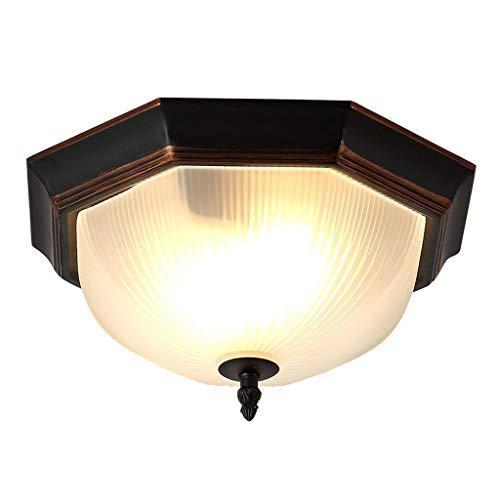 Lámpara de Techo American Retro LED Round Pasillo Cocina Corredor Dormitorio Personalidad creativa Lámpara de techo de hierro forjado Luminaria de Techo