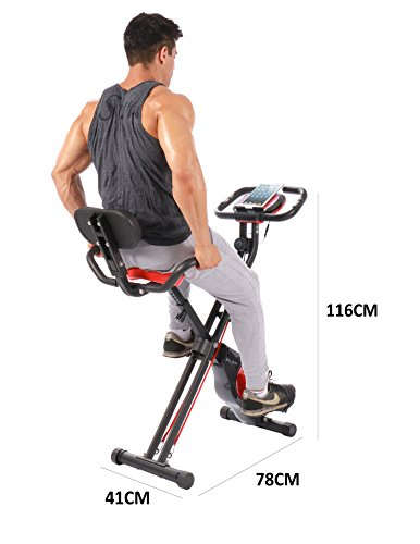 PLENY-Folding-Fitness-Exercise-Bike-with-Resistance-Bands-16-Level-Resistance-and-PhoneTablet-Holder