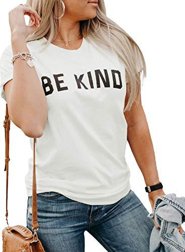 CORAFRITZ Camiseta de manga corta para mujer con estampado de letras, cuello redondo, camiseta básica de moda casual con eslogan