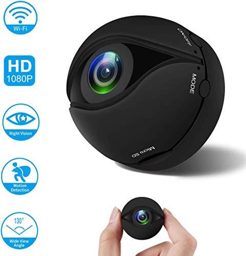A10 Mini DV WiFi Cámara deportiva 1080P 130 grados 200 W HD grabación Mini Acción Apoyo App Inteligente Cámara de seguridad con detección de movimiento/visión