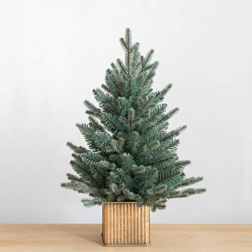 Bureau ornements de décoration décoration d'arbre de Noël arbre de Noël Cadeaux de Noël (Color : Gray green, Size : 60cm)