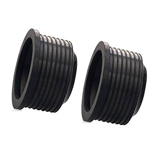 JPYH Gummimanschette, Siphon Dichtung für Waschbecken, Waschtisch Abflussrohr für Abgangsrohr, Installationssystem, Schwarz 40-50 mm