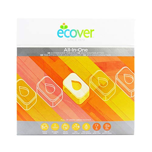 Ecover 285452 Spülmaschinen Tabs All-in-One Zitrone, 1,4 kg, EN/NL/FR/DE, VOC 0,09%