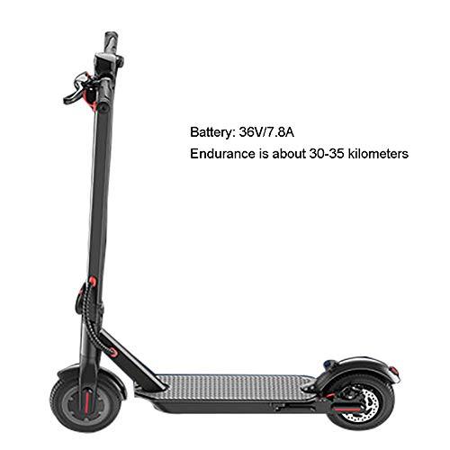 SOAR Patinetes para Niños E-Scooter Plegable for Adultos, 350W del Motor, Velocidad 3 Modos de hasta 18 kmh, Delantera y Trasera de 8.5 Pulgadas Neumáticos amortiguadoras Remoto de Alarma antirrobo