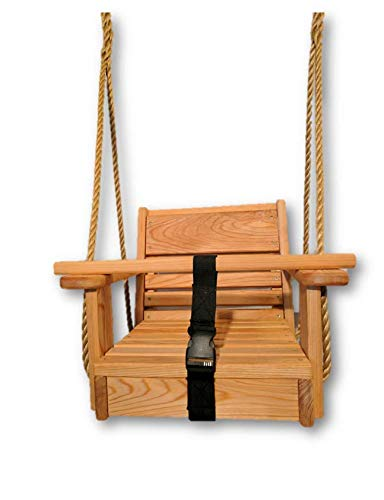 Baby Toddler Swing/Cypress Toddler Swing/Cypress Swings/Toddler Tree Swing with 10 ft. Rope Each Side