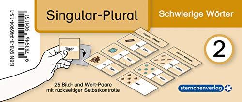 Meine Grammatikdose 2 - Singular-Plural - Schwierige Wörter: 25 Bild- und Wort-Paare mit rückseitiger Selbstkontrolle in der Box