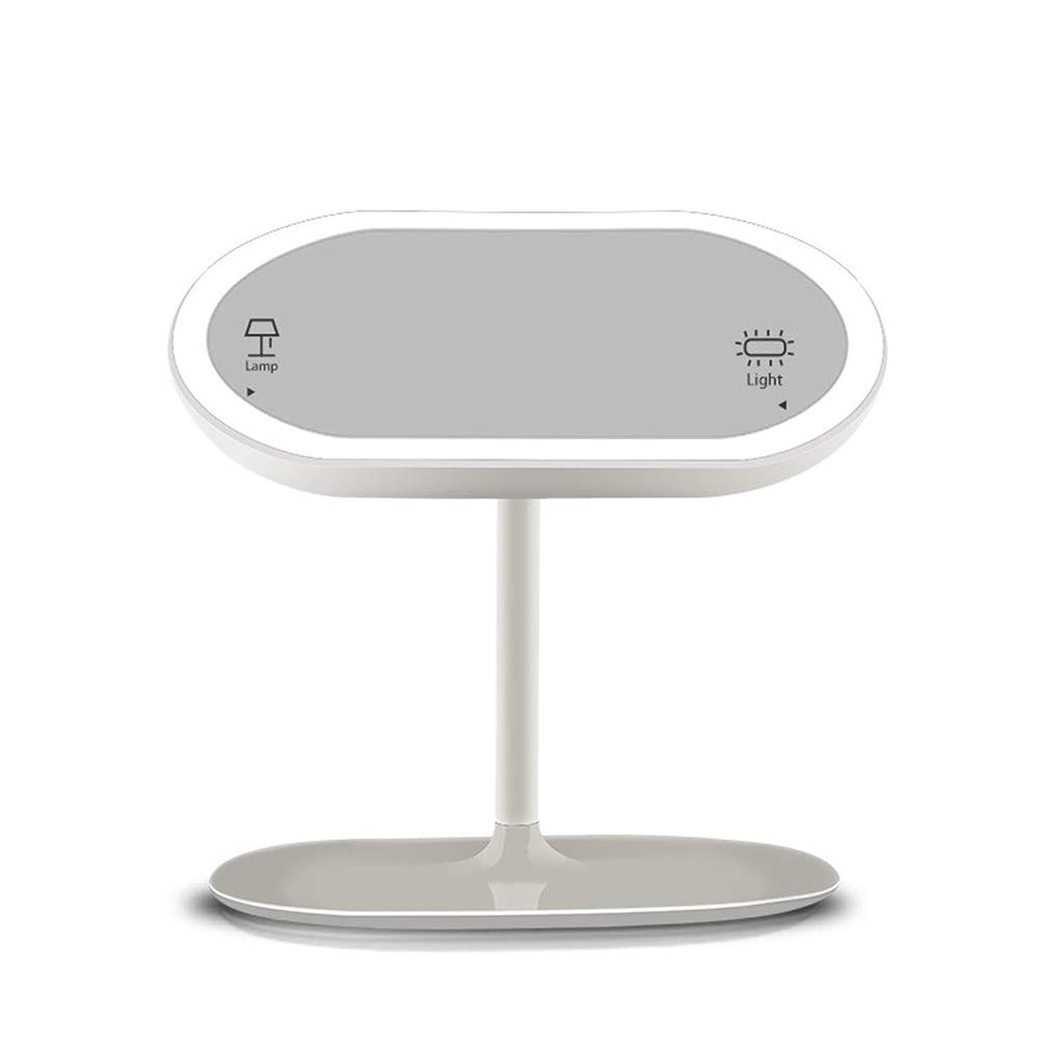 関係ない手綱シェトランド諸島ミラーライト化粧鏡クリエイティブデスクトップledライトインテリジェント充電ミラー別センサーミラーポータブルベルト