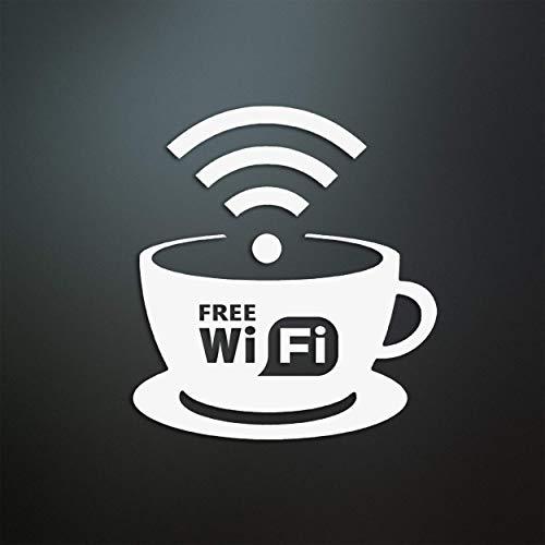 Free Wi-Fi Aufkleber/Coffeeshop/Restaurant/Gratis WLAN/Werbung