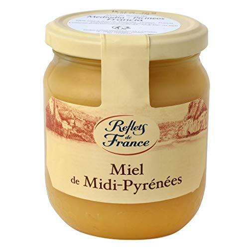 Reflets de France- Miel de Midi - Pyrénées - Miel de flores Mediodía Pirineos - 375 Gramos