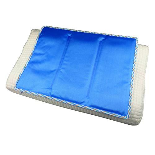 Almohada de Gel refrescante | Funda de Almohada | Almohadilla térmica de Gel Frio de enfriamiento | Funda de Almohada termorreguladora 30 x 50 cm