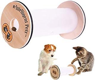 HappyRollハッピーロール ペット用知育トイ 犬 猫 おもちゃ 嗅覚と頭を使って楽しくおやつ探し 木製 知育玩具 トレーニング 訓練 しつけ ストレス解消 運動不足 認知症予防 犬 早食い防止 おもちゃ 知育トイ ゲーム