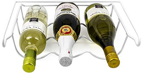 Sorbus Fridge Wine Rack- Refrigerator Bottle Rack Holds 3 Bottles of Your Favorite Wine or Drink Universal Bottle Holder Will Fit Most Fridges