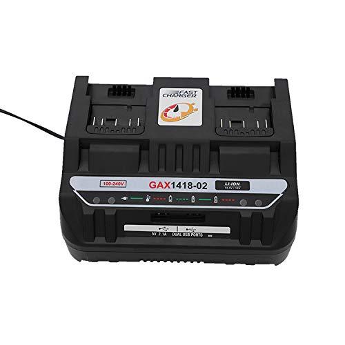 For Bosch Dual Charge Port 14.4V-18V Electrical Drill Li-ion Battery BAT609 BAT609G BAT618 BAT618G BAT614 2607336236