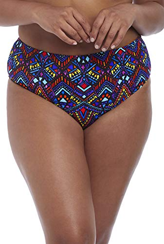 Elomi Plus Size Aztec Bikini Bottom, 22, Black