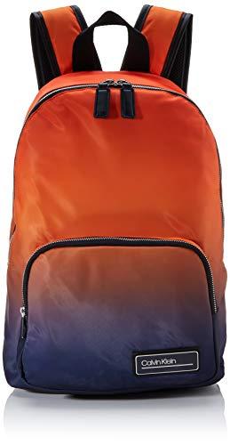 Calvin Klein - Primary Round Backpack, Mochilas Hombre, Naranja (Orange Degrade