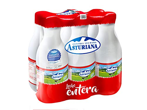 Central Lechera Asturiana - Leche Entera Botella 1,5L (Pack 6)