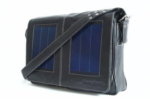 Solartasche SunnyBAG Business Professional Schwarz mit integriertem Solarladegerät - Schwarz