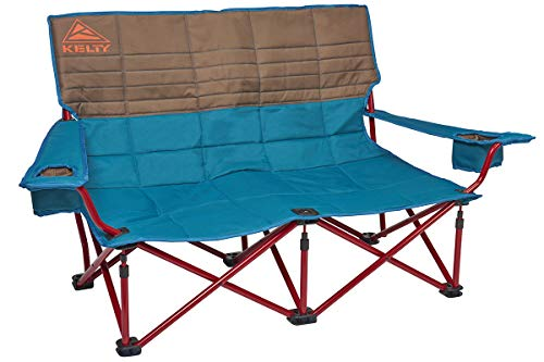 Kelty Low-Love Seat Camping Chair, Deep Lake/Fallen Rock - Portable, Folding Chair for Festivals, Camping and Beach Days - Updated 2019 Model