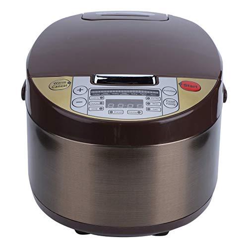 Elektrischer 500-W-Haushalts-Reiskocher mit Reiskugel-Messbecher Netzkabel Handbuch für Reiskochen, Haferbrei- und Suppenkochen, zuckerreduzierende elektrische Hot Pot-Eintopf (3 l)(1)