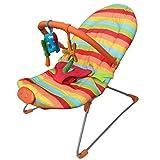 YUYAXBB Babywippe, Babyschaukel Mit 3 Hängenden Spielzeugen Und 9 Kinderreime, Beruhigende Vibration, Ab Geburt Bis 12 Kg Verwendbar