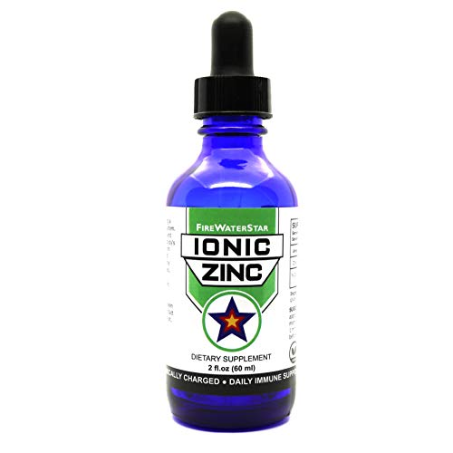 Ionic Zinc Liquid | 45 mg Zinc Sulfate – 15 mg Elemental Zinc Per Serving • Concentrated Liquid • 2 fl oz • 1 Month Supply • Glass Bottle w/Dropper | Daily Immune Support