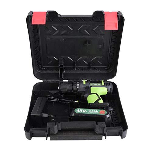 Taladro de batería de litio, destornillador inalámbrico recargable con ajuste de par de 25 niveles, doble velocidad para muebles de(220V, European standard)