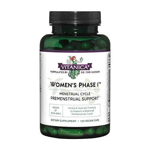 Vitanica Womens Phase I, Premenstrual Support, Vegan, 120 Capsules