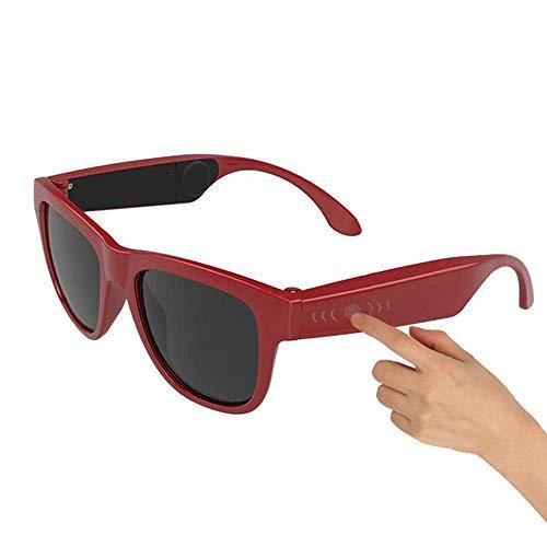RVTYR Gafas de Sol polarizadas de conducción ósea Bluetooth Headset, Smart Touch Inteligente Lentes Salud Deportes Wireless Headpho Gafas Multimedia (Color : F)