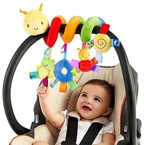 Flyglobal Babyschale Spielzeug, Baby Activity-Spirale Kette Kinderwagen Spielzeug Mädchen Junge Spirale Kinderwagenkette mit Klingelglocke Bett hängen Spielzeug für Kinderwagen, Kinderbett, Bett